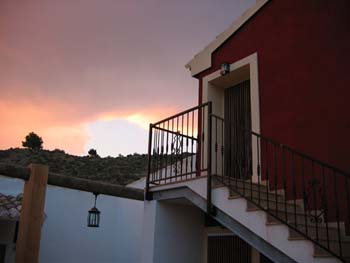 La escalera del patio