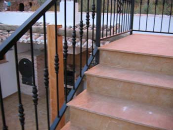 Escalera del patio